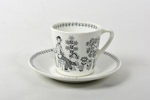 Kaffekopp och underfat, Emilia, RU (SÅLD)