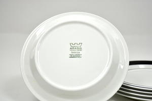 Lautaset, alkuruoka, 5 kpl,  Mustaraita, PW