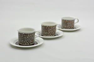 Kaffekoppar och fat, 3 st, Faenza,   IL