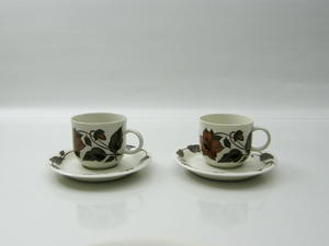 Kahvikuppi ja aluslautanen, 2 kpl, Cafe