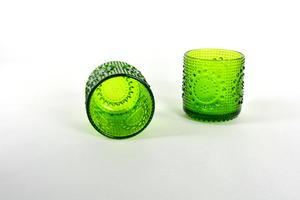 Drikcksglas, 2 st, Grapponia, grön, NS  (SÅLD)