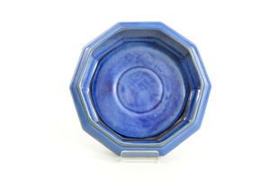 Blomsterskål, Atr Deco, blå,  GN