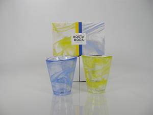 Lasit 2 kpl, Mine, Blue ja Yellow, UHV (MYYTY)