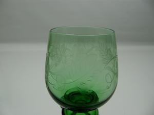 Valkoviinilasit, 2 kpl, Remmari,  vihreä (MYYTY)