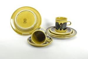 Kakao-kaffekopp och fat+assiett, 2 st, Otso, RU(SÅLD)