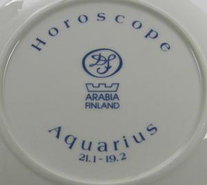 Seinälautanen, Horoscope, Aquarius, Vesimies, käsinmaalattu, DvF