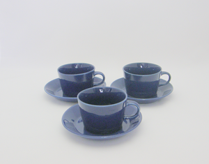 Kahvikupit 3 kpl, Kilta, sininen