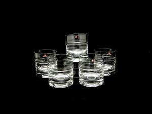 Wiskyglas, 5 st,  Droppring, TS (SÅLD)