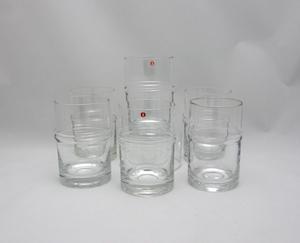 Grogglas, 6 st,  Droppring, TS (SÅLD)