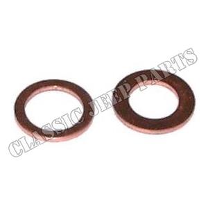 Master brake cylinder copper gasket kit