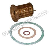 Filterelement bränslefilter mässingslammeler med packningar