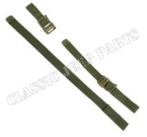 Set med remmar för spade och yxa Olive Drab metalldelar C-ände och ankar markering på spänne