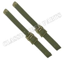 Set med remmar för kapellställning Olive Drab metalldelar C-ände och ankar markering på spänne