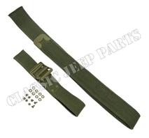 Set med remmar för reservdunk Olive Drab metalldelar nitar C-ände och ankar markering på spänne