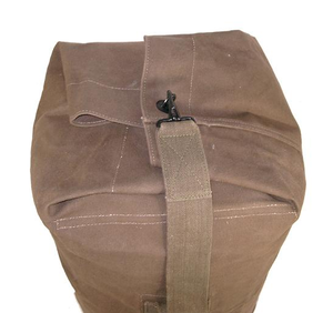 Duffle bag with handle treated canvas