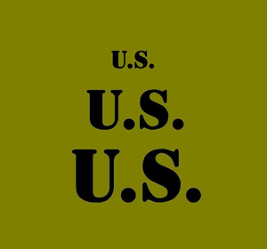 "U.S. Stencil for field gear set with 3 sizes 3"" 2"" and 1"""