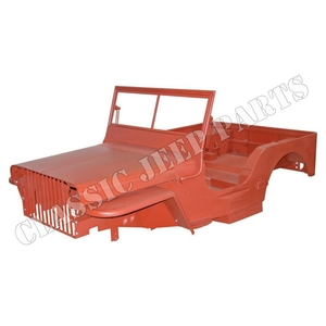 WILLYS MB body kit version A SLATGRILLE with the early low windshield WILLYS  script November 1941-February 1942