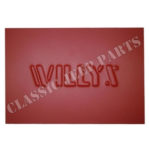 Stamped WILLYS patch for tail panel