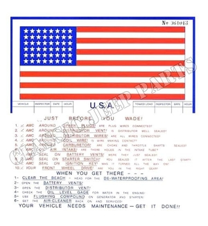 Normandy invasion information flag self adhesive