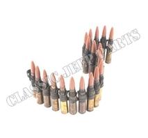 Länkar med 20 patroner (deaktiverade) med plastkula Browning Kaliber .50