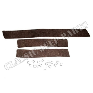 Radiator air deflector seal with staples