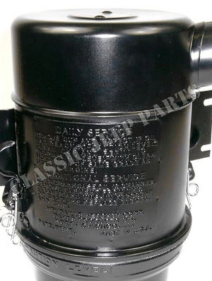 Air cleaner 1942-1943 with spotwelded instruction plate