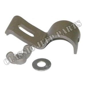 Tire pump handle retainer under rear seat