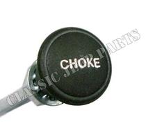Chokeknapp I grön plast med wire och hölje