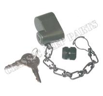 Lås för reservhjul med kedja mutter och nyckel