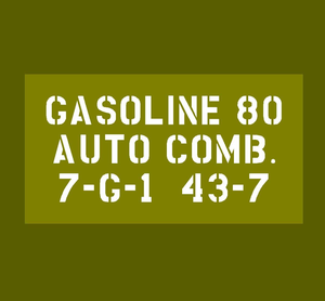 "Jerry can detail ""GASOLINE 80"""
