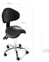 Tattoo Chair - Wave med Ryggstöd