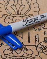 Sharpie Pen blue