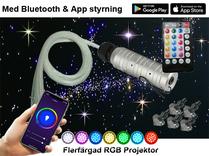 Stjärnhimmelpaket 6W RGB APP RF Fjärrkontroll 3,5kvm
