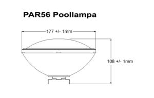 Poolbelysning PAR56 COB 20W Varmvit Rostfritt lamphus