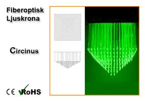 Fiberoptisk Ljuskrona Circinus