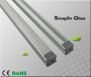 """Aluminiumprofil för ledtejp Hög """"Snap In Glas"""""""