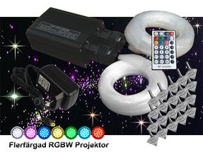 Stjärnhimmelpaket 32W RGBW Dubbel Ledprojektor 17kvm