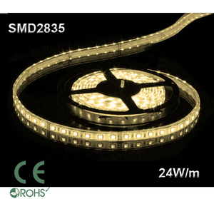 Ledtejp SMD2835 24W/m Varmvit