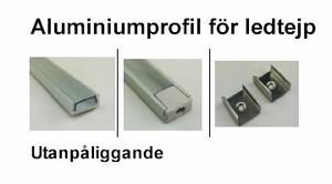 Aluminiumprofil för ledtejp Låg