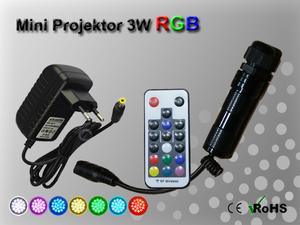 Fiberoptisk Ledprojektor 3W Flerfärgad RGB