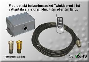 Fiberoptiskt Pool/Spapaket Twinkle 10W 4-5m 11st Armaturer