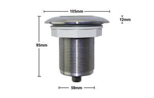 Små Rostfria Poollampor Glasfiber/Linerpool