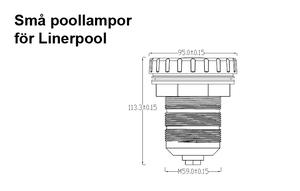 Små Poollampor Betong & Linerpool RGB Inbyggd RF-Kontroller