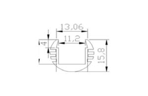 Ledlist i aluminium SMD5630 Rund 0.5m