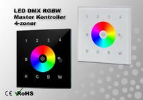LED DMX RGBW Väggkontroller 4-zon