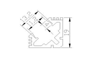 Ledlist i aluminium SMD5630 Vinklad 0.5m