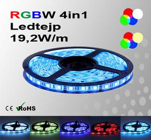 Ledtejp RGBW Flerfärgad med Vit el. Varmvit 19,2W/m
