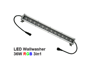 Led Wallwasher 24VDC 36w 3in1 RGB