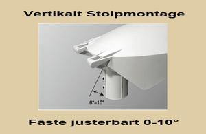 Led Stolparmatur HighPower 22W Vinkl.bart Stolpfäste