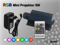 Fiberoptisk Ledprojektor 5W Flerfärgad RGB